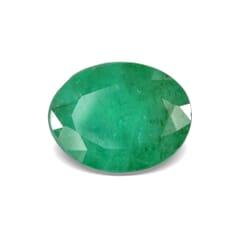 1.71-Carat SI-Clarity Dark Green Zambia Emerald