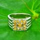 Yellow Sapphire 925 Silver Ring Size