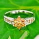 Yellow Sapphire 925 Silver Ring Size 5.75