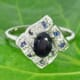 Blue Sapphire 925 Silver Ring Size 7.00