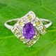 Amethyst and Yellow Sapphire 925 Silver Ring Size 7.00