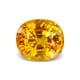 4.67-Carat VVS-Clarity Orangish Yellow Sapphire