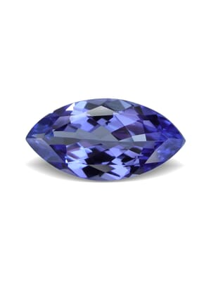0.93 Carat VVS-Clarity Violet Blue AA+ Tanzanite