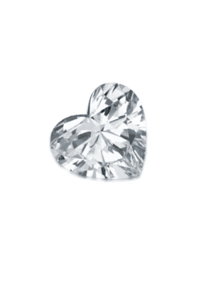 Natural White Topaz Heart Cut From 3.00 mm to 10.00 mm
