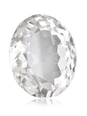 Natural White Topaz Oval Cut From 4x3 mm to 20x15 mm
