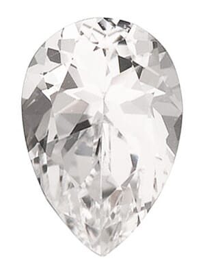 Natural White Topaz Pear Cut From 4x3 mm to 20x15 mm