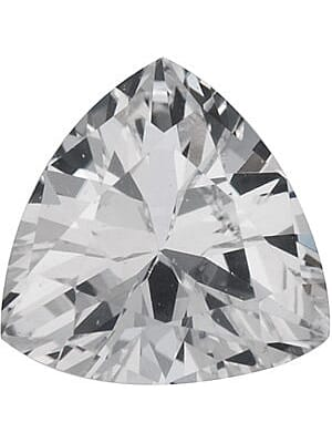 Natural White Topaz Trilliant Cut From 3.00 mm to 12.00 mm