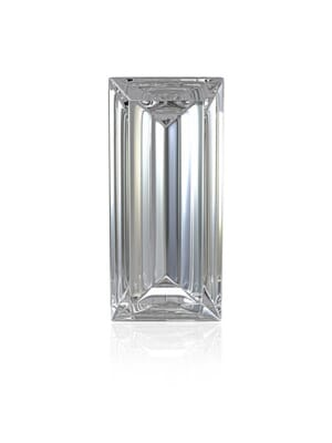 Natural White Topaz Baguette Cut From 4x2 mm to 10x8 mm