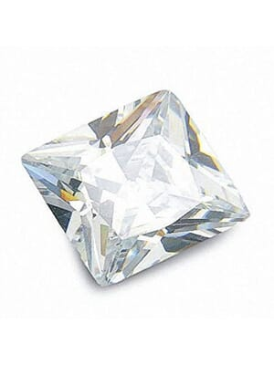 Natural White Zircon Square Cut From 1.50 mm to 3.50 mm