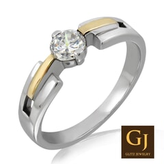 18KT Gold and 0.25 Carat E Color VS Clarity Diamond Ring