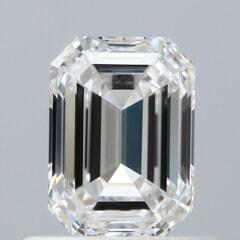 GIA Certified 0.61 Carat G Color VVS1 Clarity Emerald Diamond
