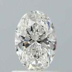 GIA Certified 0.60 Carat G Color VS2 Clarity Oval Diamond