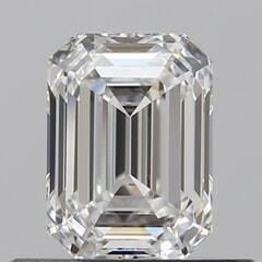 GIA Certified 0.51 Carat F Color IF Clarity Emerald Diamond