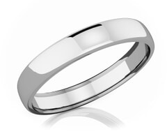 4 mm Comfort Fit Classic Platinum Wedding Band