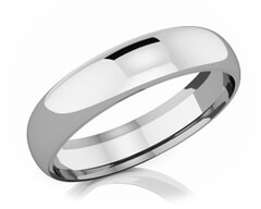 5 mm Comfort Fit Classic Platinum Wedding Band