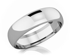 6 mm Comfort Fit Classic Platinum Wedding Band