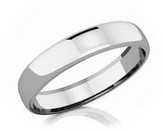 4.50 mm Domed Shape Romantic Classic Platinum Wedding Band