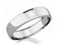 5.50 mm Domed Shape Romantic Classic Platinum Wedding Band