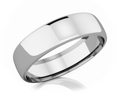 6.50 mm Domed Shape Romantic Classic Platinum Wedding Band