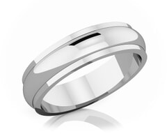 5 mm Half Rounded Edge Romantic Classic Platinum Wedding Band