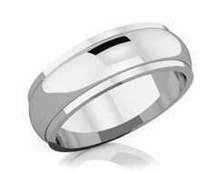 6 mm Half Rounded Edge Romantic Classic Platinum Wedding Band