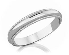3 mm Milgrain Edge Romantic Classic Platinum Wedding Band