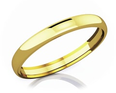 3 mm Comfort Fit Classic 18K Gold Wedding Band