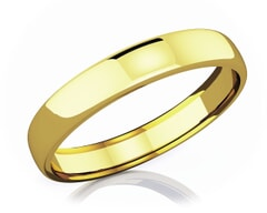 4.50 mm Domed Shape Romantic Classic 18K Gold Wedding Band