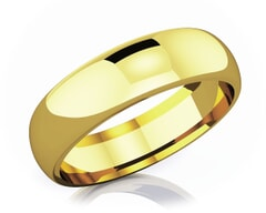6 mm Comfort Fit Classic 18K Gold Wedding Band