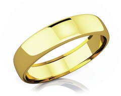 5.50 mm Domed Shape Romantic Classic 18K Gold Wedding Band