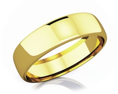 6.50 mm Domed Shape Romantic Classic 18K Gold Wedding Band