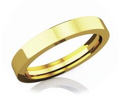 3 mm Flat Comfort Fit Classic 18K Gold Wedding Band