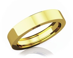 4 mm Flat Comfort Fit Classic 18K Gold Wedding Band