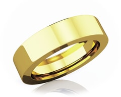 5 mm Flat Comfort Fit Classic 18K Gold Wedding Band