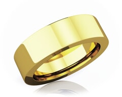6 mm Flat Comfort Fit Classic 18K Gold Wedding Band