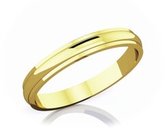 3 mm Half Rounded Edge Romantic Classic 18K Gold Wedding Band