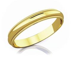 3 mm Milgrain Edge Romantic Classic 18K Gold Wedding Band