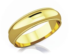 5 mm Milgrain Edge Romantic Classic 18K Gold Wedding Band
