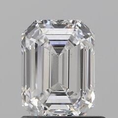 GIA Certified 1.01 Carat D Color VS2 Clarity Emerald Diamond