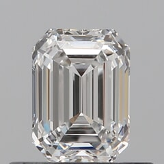 GIA Certified 0.50 Carat E Color VVS1 Clarity Emerald Diamond