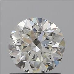 GIA Certified 1.00 Carat I Color VS1 Clarity Round Diamond
