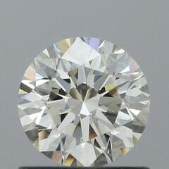 GIA Certified 0.71 Carat L Color VS1 Clarity Round Diamond