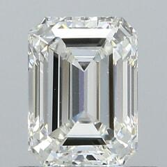 GIA Certified 0.70 Carat H Color VS2 Clarity Emerald Diamond
