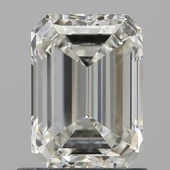 GIA Certified 1.01 Carat I Color VS1 Clarity Emerald Diamond