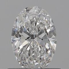 GIA Certified 0.50 Carat E Color IF Clarity Oval Diamond