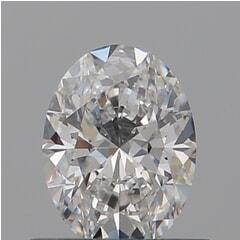 GIA Certified 0.50 Carat D Color VVS1 Clarity Oval Diamond