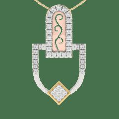 18KT Gold and 0.13 Carat Diamond Pendant