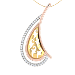 18KT Gold and 0.09 Carat Diamond Pendant