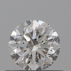 GIA Certified 0.50 Carat G Color VVS2 Clarity Round Diamond