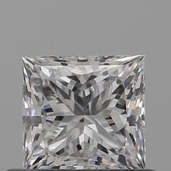 GIA Certified 0.51 Carat E Color VVS2 Clarity Princess Diamond